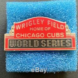2016 Chicago Cubs World Series Baseball Press Pin New in Box Cleveland Indians