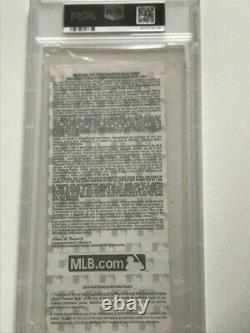 2016 Chicago Cubs World Series Game 7 Ticket PSA 9