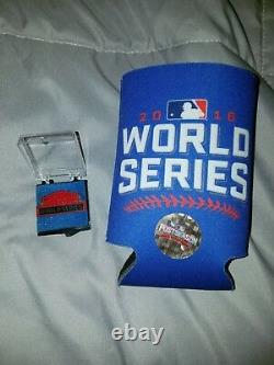 2016 Chicago Cubs World Series Media Press Pin with Free Cup Holder MINT RARE