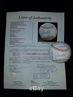 2016 Cubs Team Signed 2016 World Series Baseball Bryant Rizzo Arrieta Jsa Loa