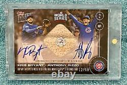 2016 TOPPS NOW World Series CUBS Kris Bryant Anthony Rizzo DUAL AUTO RELIC #/99