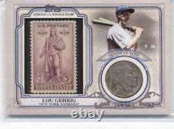 2016 Topps World Series Coin and Stamp Nickel #WCCS-LG Lou Gehrig Yankees /50