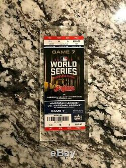 2016 World Series Complete Chicago Cubs Cleveland Indians Game 7 Ticket