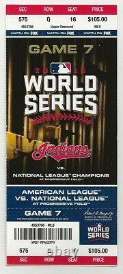 2016 World Series Full Game 7 Ticket Cubs Win Clincher