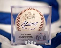 2016 World Series Game Used Foul Ball Game 2 WS MVP Ben Zobrist Autograph