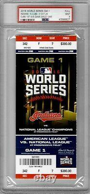 2016 World Series Ticket Stub GAME 1 October 25 Cubs vs Indians PSA 9+++