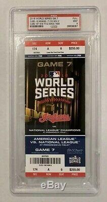 2016 World Series Ticket Stub Game 7 PSA Mint 9 Cubs vs Indians