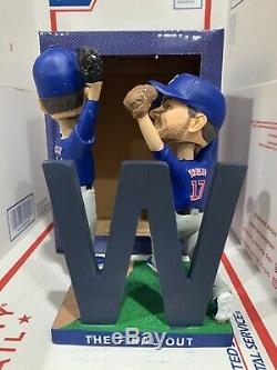2017 Chicago Cubs Baseball Kris Bryant Anthony Rizzo FINAL OUT BOBBLEHEAD