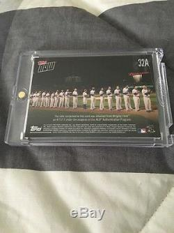 2017 Topps Now Wrigley Field Relic #92/99 World Series Banner Chicago Cubs MLB