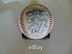 2018 BOSTON RED SOX TEAM SIGNED OFFICIAL WORLD SERIES ROMLB BASEBALL withCOA