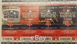 2018 Boston Red Sox Full Playoff Tickets Alds, Alcs World Series, All Home Games