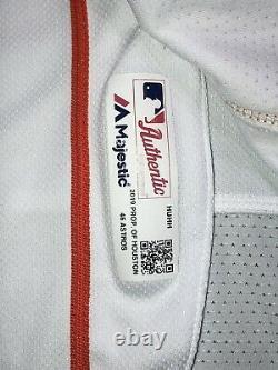 2019 Bryan Abreu Houston Astros Game Used Worn Home White WORLD SERIES Jersey