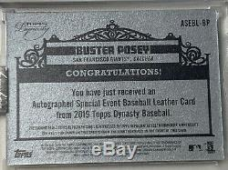 2019 Dynasty Buster Posey 2012 World Series Game Used Baseball Auto 3/5 Mint