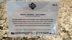 2019 TOPPS NOW WORLD SERIES Dual Auto DANIEL HUDSON YAN GOMES LAST OUT NATIONALS