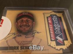 2019 Topps Dynasty Max Scherzer Laundry Tag 1/1 Nationals World Series Champ