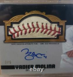 2019 Topps Dynasty Yadier Molina Game Used 2011 World Series Baseball Auto #/5