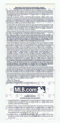 2019 World Series Game 7 Full Ticket Nationals @ Astros Clincher 51245