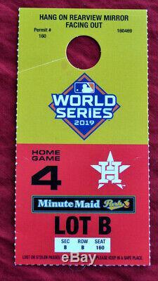 2019 World Series Ticket Stub GAME 7 Washington Nationals vs Astros & PARK STUB
