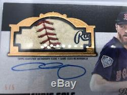 2019 topps dynasty Baseball 5/5 Chris Sale WORLD SERIES USED PATCH LOGO AUTO BOS