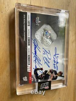 2019 topps now nationals world series game 7 used base relic triple auto Read