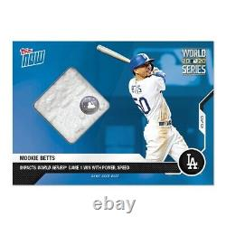 2020 Topps Now Game-Used Base Relic #447A Mookie Betts #/49 World Series Game 1