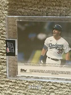 2020 Topps Now LA Dodgers #442 CODY BELLINGER Game Used Base Relic AUTO # 39/49