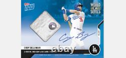 2020 Topps Now World Series Auto Relic Card /49 Dodgers Cody Bellinger #446a
