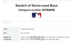 2020 Topps Now World Series CLAYTON KERSHAW Game Used Base Relic /99
