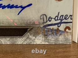 2020 Topps Triple Threads DECA (10) AUTO RELIC Dodgers World Series Team LE 4/10