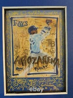 2020 Topps X Gregory Siff Set Cards 1-3 Dodgers World Series Framed
