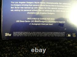 2020 Topps x Ben Baller LA Dodgers World Series Champion Set 1 auto per box SP