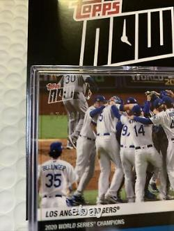 2020 World Series Champions Dodgers MLB TOPPS NOW 15-Card Team Set with Team #/49