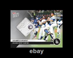 2020 World Series Dodgers Game-used Base Relic /99 MLB TOPPS NOW Card 482A RARE