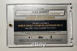 2021 Topps Series 1 One Max Muncy World Series auto jersey /50