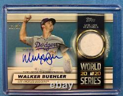 2021 Topps Walker Buehler World Series Auto Relic Dodgers Blue 01/50 Series 1