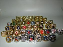 25pcs 1927 Yankees to 2016 Chicago Cubs Baseball Championship Ring Set Fan Gift
