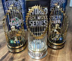 3 Dodgers 1981 1988 2020 World Series Baseball Replica Trophy Foco Mlb New Nib