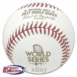 (3) Rawlings 2017 World Series MLB Official Game Baseball Boxed