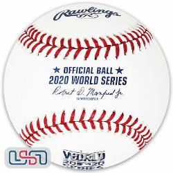 (6) 2020 World Series Official MLB Rawlings On Field Leather Baseball Boxed