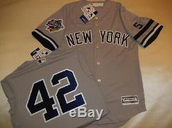 9710-1 New York Yankees MARIANO RIVERA 1999 WORLD SERIES Baseball Jersey GRAY
