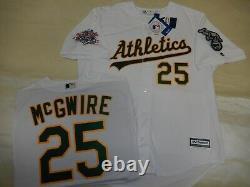 9927 Oakland A's MARK McGWIRE 1989 World Series Baseball JERSEY New WHITE
