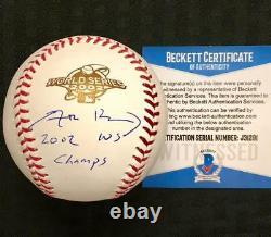 ADAM KENNEDY Angels 2002 WS Champ Signed WORLD SERIES Baseball BAS Beckett COA
