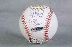 ALBERT PUJOLS 2006 World Series Signed Baseball UDA #222/500 PLEASE READ