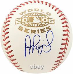 Albert Pujols Autographed 2006 World Series Baseball Cardinals Beckett 185825