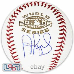 Albert Pujols Cardinals Autographed Signed 2006 World Series Baseball JSA Auth