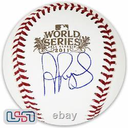 Albert Pujols Cardinals Signed Autographed 2011 World Series Baseball JSA Auth