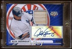 Alex Rodriguez 2010 Topps Autograph World Series Bat/50