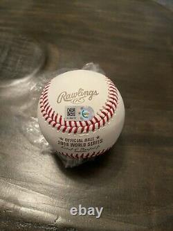 Anthony Rizzo Chicago Cubs Signed 2016 MLB World Series Baseball Fanatics