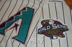 Arizona Diamondbacks 2001 World Series Jersey 2X 2XL Majestic Genuine baseball