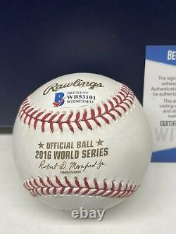 Aroldis Chapman Signed 2016 World Series WS CHAMPS INSC Baseball Beckett COA